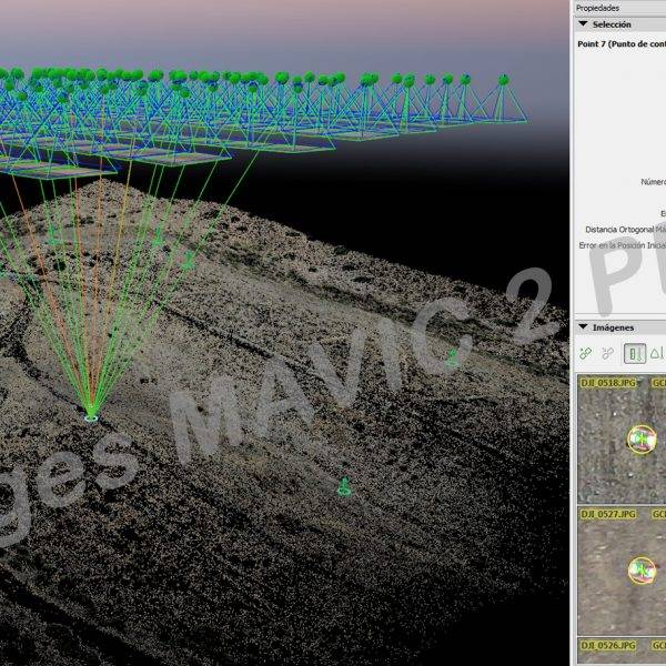 Nubes de puntos - Comprobación con dianas - Mavic 2 PPK