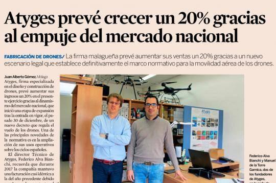 "Diario Expansión: ""ATyges prevé crecer un 20% gracias al empuje del mercado nacional"""