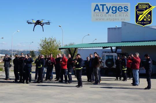 ATyges imparte curso sobre el uso de drones en emergencias para la administración andaluza