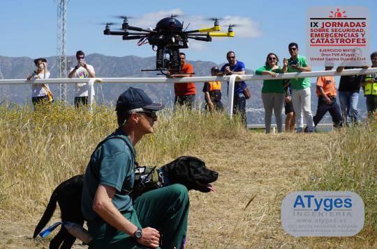Primera prueba de rescate mixto Drones & Unidad Canina Guardia Civil